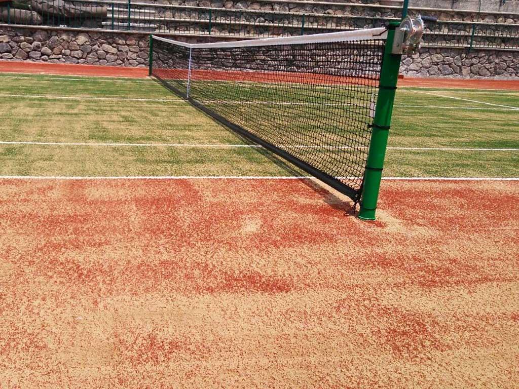 cancha sintetica de tenis