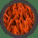 pasto sintetico de colores - naranja