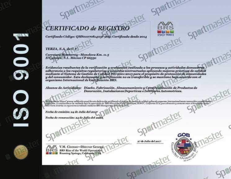 Pasto Sintetico Terza ISO 9001
