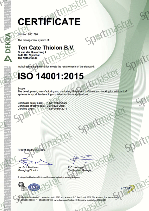 TC Thiolon UK ISO 14001