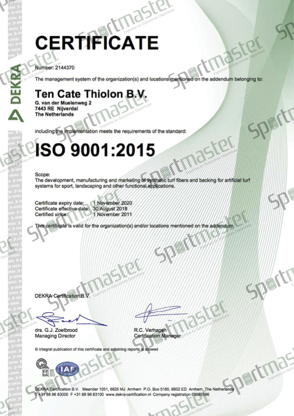 TC Thiolon UK ISO 9001
