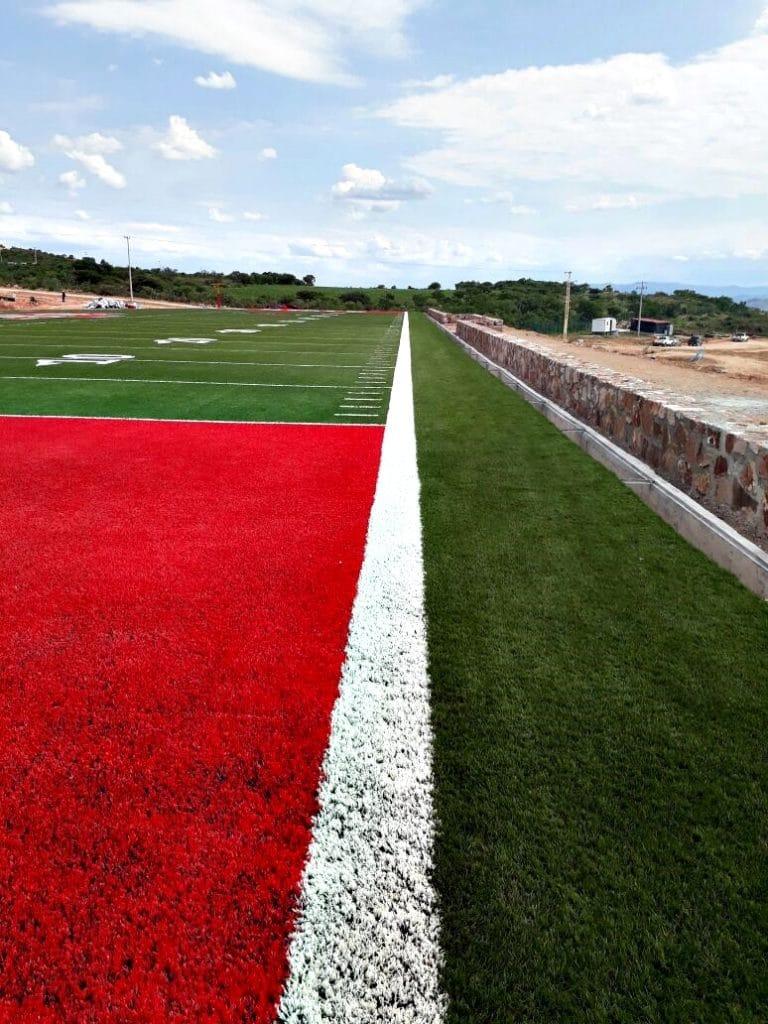 cancha de futbol americano - cesped artificial