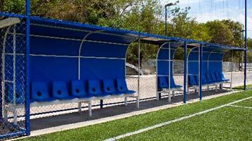 bancas para jugadores y arbitros - futbol 7