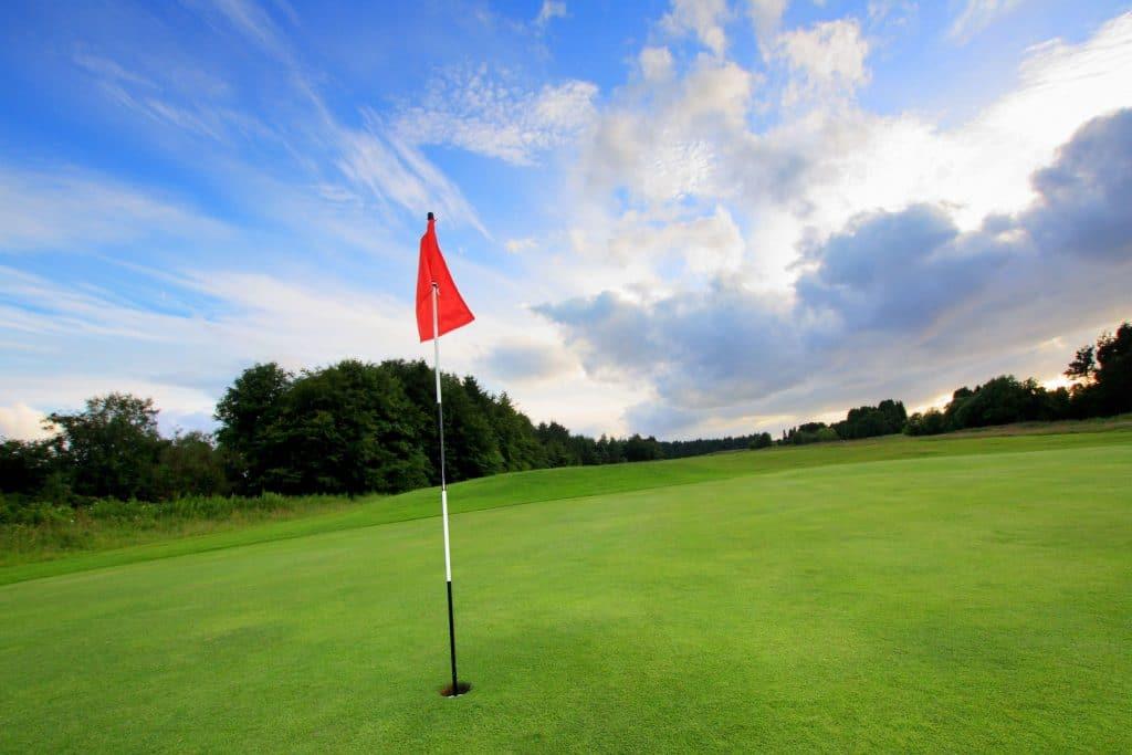 campo de golf con pasto sintetico