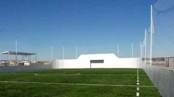 malla postes y red perimetral futbol 5